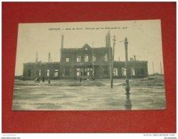 MILITARIA  - DENAIN  -   Gare Du Nord Détruite Par Les Allemands En 1918    - - Weltkrieg 1914-18