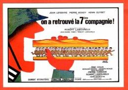 Carte Postale : On A Retrouvé La 7ème Compagnie ! (cinéma Affiche Film) Illustration Hervé Morvan - Morvan