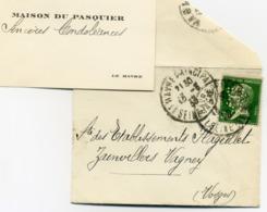 Lettre De Condoléances Le Havre 1933 D.P 92 - Francia