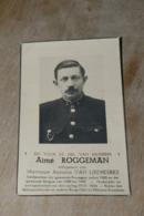 Doodsprentje Veldwachter Aaigem Ressegem  Foto +1949 Roggeman - Religion & Esotérisme