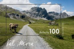 Switzerland - 2019 - Swiss Landscapes - Val Mora - Mint Souvenir Sheet - Switzerland