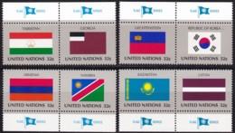 UNO-New York, 1997,  722/29,  MNH **,  Flaggen Der UNO-Mitgliedstaaten (XI). - New York – UN Headquarters