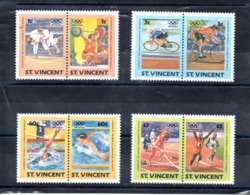 St.Vicente Nº 766-73 Olimpiadas, Serie Completa En Nuevo 5,50 € - Juegos Olímpicos