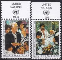 UNO-New York, 1993, 642/43,  MNH **,  Würde Und Teilhabe Für Senioren. - Nuovi
