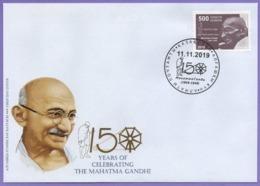 Kazakhstan 2019. 5 FDC. 150 Anniversary Of Mahatma Gandhi. - Mahatma Gandhi