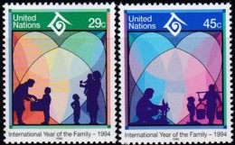 UNO-New York, 1994, 661/62,  MNH **,  Jahr Der Familie. - New York – UN Headquarters
