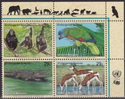UNO-New York, 1994, 663/66,  MNH **,  Gefährdete Arten (II): Fauna. - New-York - Siège De L'ONU