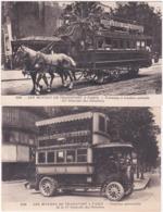 75. LES MOYENS DE TRANSPORT A PARIS. 2 Cartes N° 2148 & 2146 - France