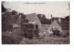 50 TO   CPA   Condé Sur Huisne Les Battages - Otros Municipios