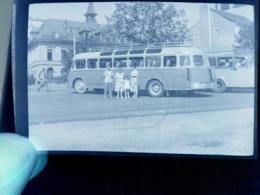 Négatif Photo Autocar Ancien - Automobiles