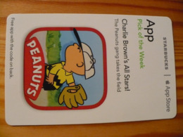 Starbucks / ITunes Card USA 2014 - Peanuts, Charlie Brown - Gift Cards