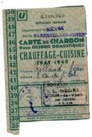 Carte Ravitaillement Charbon Nevers Vauzelles - 1900 – 1949