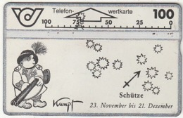 AUSTRIA - Zodiac/Sagittarius, CN : 500A, 11/95, Used - Zodiaco