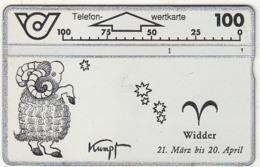 AUSTRIA - Zodiac/Aries, CN : 501A, 03/95, Used - Zodiaco