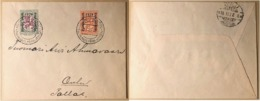 Finland. 1928. Stamp Exhibition. Set Of 2 Stamps On Cover With Special Exh. Canc. Helsinki 17.XI.28, Real Mail To Oulu - Finland