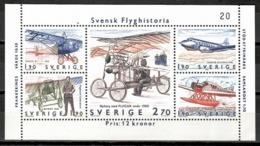 Sweden 1984 Suecia / Aviation Aircrafts Airplanes MNH Luftfahrt Aviación Aviones / Kb30  2-4 - Aviones