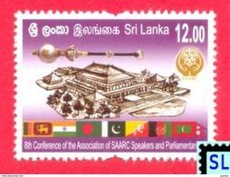 Sri Lanka Stamps 2017, SAARC Speakers And Parliamentarians, Flags, MNH - Sri Lanka (Ceylon) (1948-...)