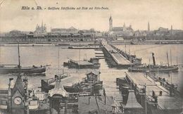Germany Koeln Am Rhein - Geoeffnete Schiffbruecke Mit Blick Auf Koeln-Deutz 1907 - Germany