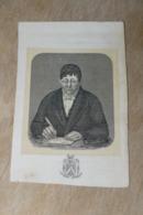 Gent Hansbeke +1858 Litho Van Ryckegem  Burgemeester Hansbeke - Religion & Esotérisme