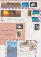 Lot Territoire D'Outre Mer POLYNESIE FRANCAISE : 5 Plis Oblitérations Diverses TàD Manuel Dont PAPEETE - Polynésie Française
