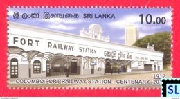 Sri Lanka Stamps 2017, Colombo Fort Railway Station, Train, MNH - Sri Lanka (Ceylon) (1948-...)