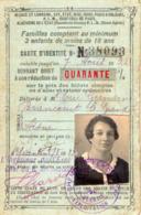 VP16.046 - 1933 - Carte D'Identité Des Chemins De Fer Du Nord - Mme Germaine ERIC à BRANCOURT LE GRAND - Cartes