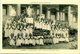 Ouganda (A.E.F.) - Nouveaux Baptisés Aux Pieds De La Vierge - Uganda