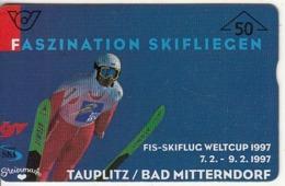 "AUSTRIA - Fis-Skiflug Weltcup ""97, CN : 701A, Tirage 20000, 02/97, Used - Oostenrijk"