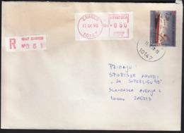 Croatia Zagreb 1998 / Ship Amorela / Postage On The Post Label - Croatia