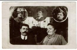 Carte Photo - Photo Montage - Souvenir De ..en Médaillons  'Refusé Parce Qu'il Y A Une Tête De Soldat Dessus' - 2 Scans - Fotografia