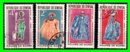 "SENEGAL REPUBLICA SERIE DE 4 SELLOS AÑO 1966: ""ELEGANT MAN"" - Senegal (1960-...)"