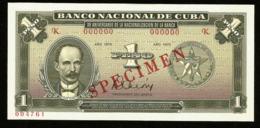 * Cuba 1 Peso 1975 ! SPECIMEN ! - Cuba
