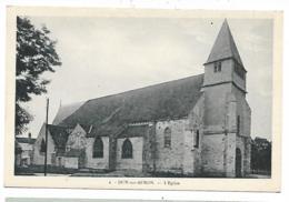CPA DUN SUR AURON, L'EGLISE, CHER 18 - Dun-sur-Auron