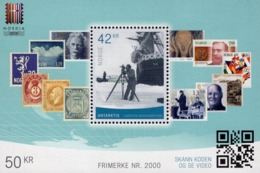 Norway - 2019 - Antarctica - NORDIA 2019 Stamp Exhibition - Stamp No. 2000 - Mint Souvenir Sheet - Nuovi