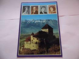 Chateau De Vaduz - Timbre De La Famille - Liechtenstein