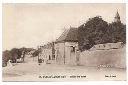 CPA DUN SUR AURON, ECOLES, ECOLE DES FILLES, CHER 18 - Dun-sur-Auron