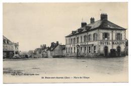 N°1 - CPA DUN SUR AURON, HOTEL MARGOT PLACE DE L'ETAPE, CHER 18 - Dun-sur-Auron
