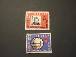 POLONIA - 1961 COSMONAUTA 2 VALORI - NUOVi(++) - 1944-.... Republic
