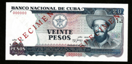 * Cuba 20 Pesos 1991  ! SPECIMEN ! - Cuba
