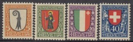 SCHWEIZ  185-188,  Postfrisch *, Pro Juventute 1923, Wappen - Pro Juventute