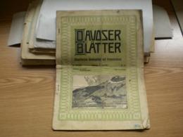 Davoser Blatter Illustriertes Wochenblatt Mit Fremdenliste 1910 - Travel & Entertainment