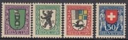 SCHWEIZ  214-217,  Postfrisch *, Pro Juventute 1925, Wappen - Pro Juventute