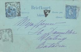 Nederlands-Indië Briefkaart 1902 Stempel A - Niederländisch-Indien