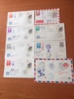 +++ Sammlung Ceskoslovensko 8 Briefe Ballonpost Ab 1968 +++ - Briefmarken