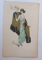 Künstlerkarte, Frauen, Mode, Mantel, Amor,  1900, Lyett  ♥ (22245) - Künstlerkarten