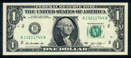 USA 2013, Federal Reserve Note, 1 $, One Dollar, B = New York, UNC, Erhaltung I - Federal Reserve (1928-...)