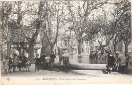Cpa AUBAGNE Le Cours Et La Fontaine  Ecrite 1915  -D- - Aubagne