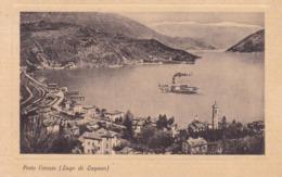 Porto Ceresio (Lago Di Lugano) * See, Schiffen, Bahnhof, Eisenbahn, Zug, Alpen * Italien * AK1879 - Varese