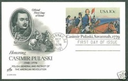 GUERRE CIVILE AMÉRICAINE AMERICAN CIVIL WAR BATTLE ON SAVANNAH 1779 PULASKI  USA 1979 FDC PREPAID POST CARD #UX79 - Unabhängigkeit USA