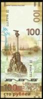 * Russia 100 Rubles !  2015 Crimea ! UNC ! Beautiful Serial Number - Russia